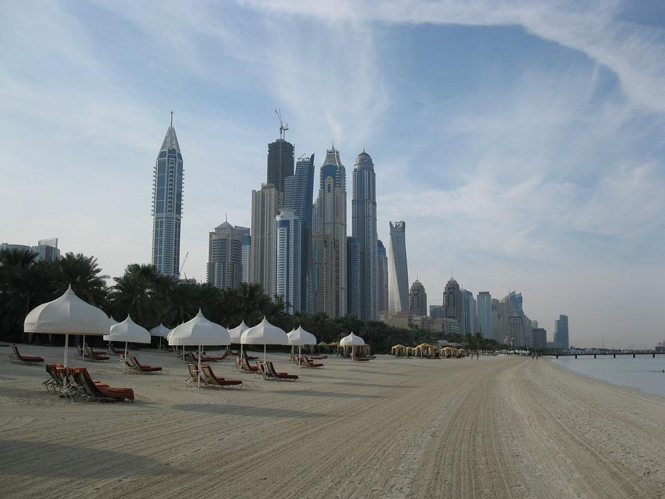spojené arabské emiráty - dubaj pláž